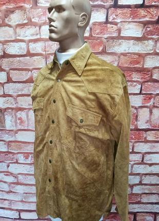 Рубаха замшевая john f gee винтажная
