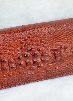 Стильный женский кошелек крокодил.