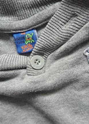 Интересный свитерок/трикотажная кофточка kiki&koko/джемпер 100%хлопок 5л4 фото