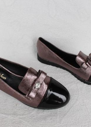 Шикарные туфли, лоферы, бвлетки 38, 39 размера на низком ходу