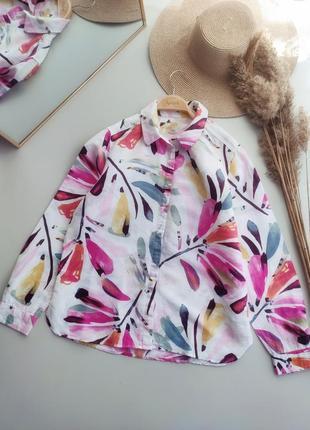 Натуральная, очень красивая рубашка лён-хлопок