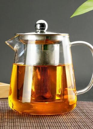 Заварювальний чайник з ситечком. 950 мл.