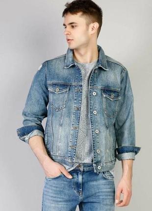 Мужская джинсовая куртка, размер l