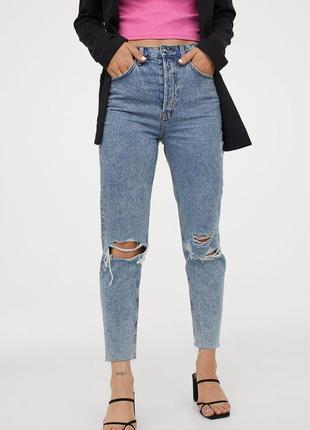 Новые джинсы мом, момы h&m. размер 42