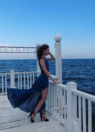 Нарядное вечернее длинное платье в пол на выпускной/свадьбу