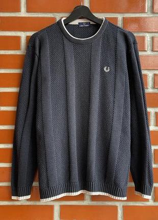 Fred perry vintage оригинал мужской свитер свитшот размер l фред пэрри б у