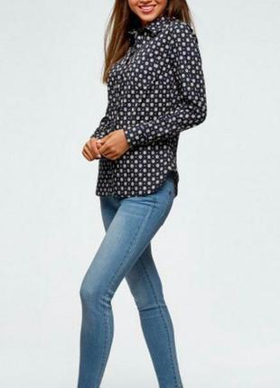 Приталенная рубашка из хлопка oodji l/12-14 размер