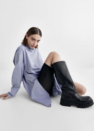 Ботфорти ,сапожки ,ботинки,черные zara