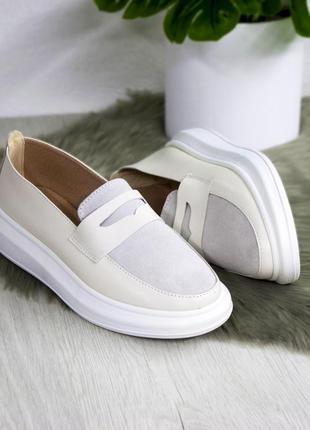 Женские туфли натуральная замша / кожа
