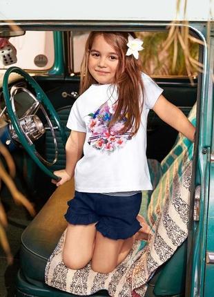 Стильные хлопковые шорты для девочки от tcm tchibo (чибо), германия, 146-152 см