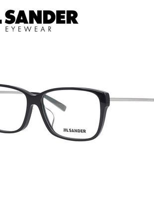 Новая оправа jil sander очки премиум оригинал чёрные с серебром мужская