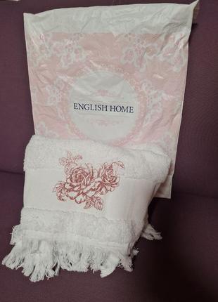 Новое белоснежное мягкое полотенце  english home