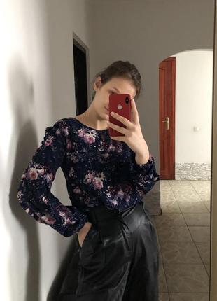 Цветочная. красивая блуза thicob