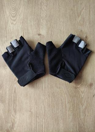 Спортивные женские/ мужские  тренировочные вело перчатки без пальцев  crivit.