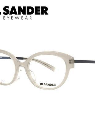 Новая титановая оправа jil sander оригинал очки премиум полупрозрачные