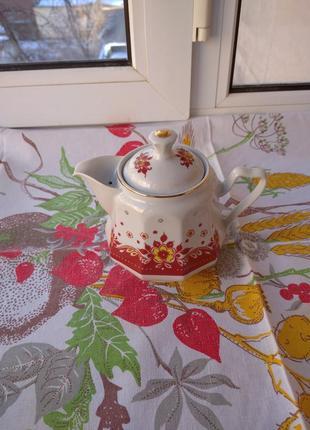 Новый чайник фарфоровый сумской фарфоровый завод