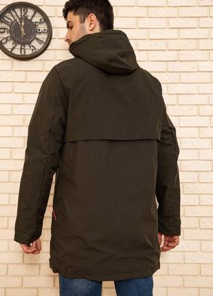 3 цвета куртка демисезонная хаки с капюшоном- s m l