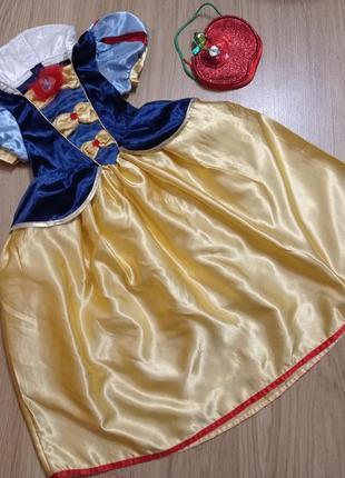 Карнавальное платье белоснежка 5-6 лет. білосніжка