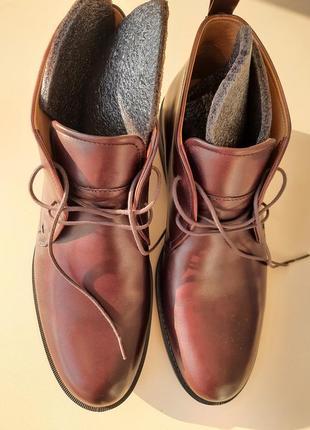 Ботинки кожаные 31,5 след ecco