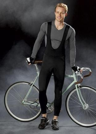 Велокомбинезон термо, на флисе, м 48-50, велоштаны, crivit, германия1 фото