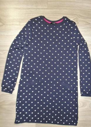 Платье трикотажное на 10-11лет рост 140-146