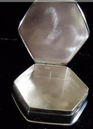 Винтаж!серебренная шкатулка для кольца 925 проба
