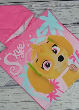Фирменное детское полотенце пончо девочке щенячий патруль paw patrol
