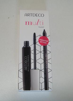 Artdeco набор для макияжа глаз multi talent тушь и карандаш. акция 1+1=3