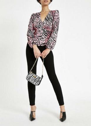 Стильная блуза на пуговках, river island, размер 12-14