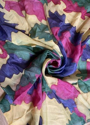 Шелковый платок шелк натуральный ручная роспись батик