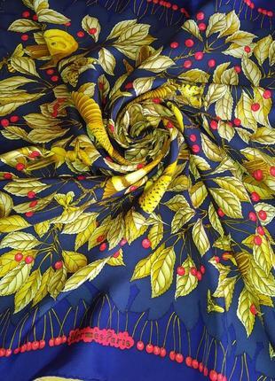 Hermes коллекционный шарф платок les merises, винтаж