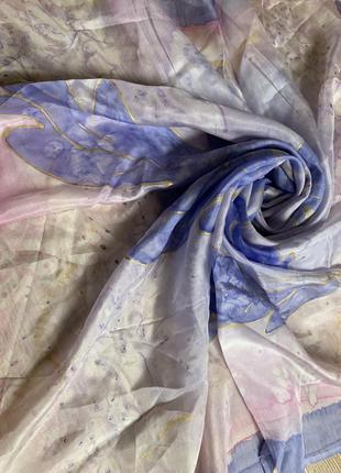 Красивейший шелковый платок батик шелк натуральный 100% ручная роспись
