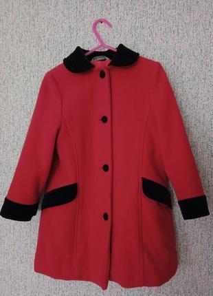 Пальто кашемировое на девочку 5-6 лет