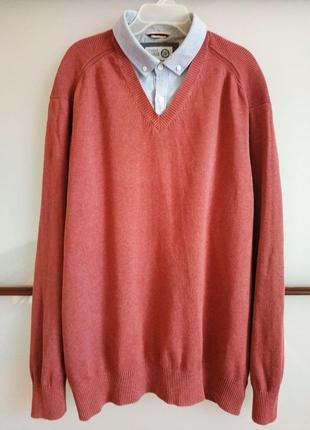 Мужской оригинальный джемпер-рубашка (2 в одном)