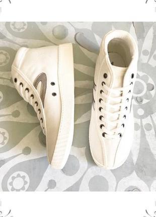 Tretorn сникерсы хайтопы кеды белые бренд оригинал из сша р.37-39 nylite