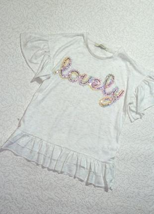 Нарядная футболка george на 9-10 лет