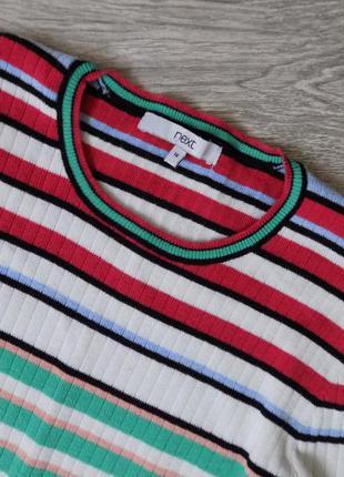 Очень стильный пуловер в рубчик, 16 р-р