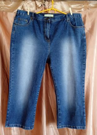 Новые джинсовые капри шорты бриджи  52-54-56размер
