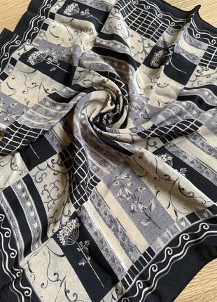 Тюльпаны колокольчики шелковый платок шелк натуральный