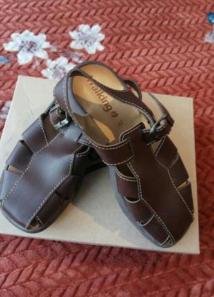 Босоножки сандалии кожаные