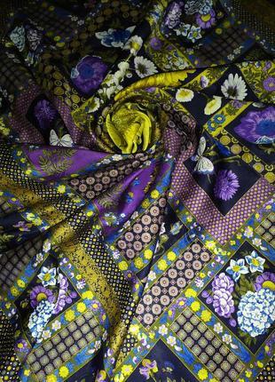 Brioni редкий коллекционный великолепный винтажный большой платок, шелк