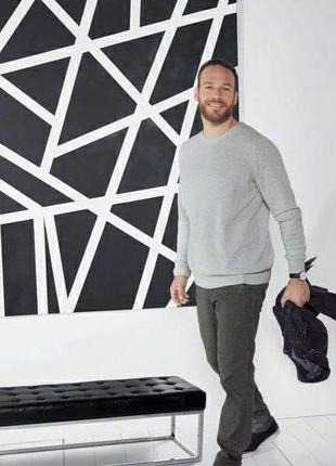 Мужской хлопковый пуловер джемпер свитер livergy германия