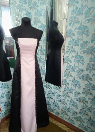 Стильне нарядне плаття вишивка бісер