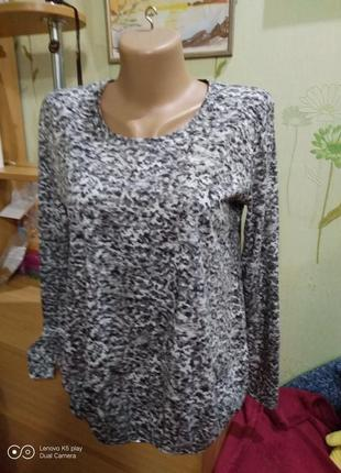 Мягкая кофта, блуза- трикотаж-с резинкой по низу--m-l-gerry webber-идеал