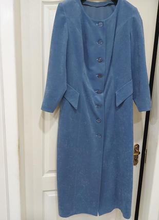 Платье велюровое стильное
