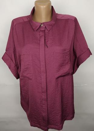 Блуза рубашка новая шикарная стильная uk 16/44/xl