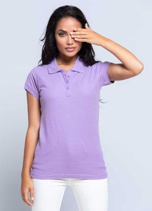 Лавандовая сиреневая футболка поло 100% хлопок размеры