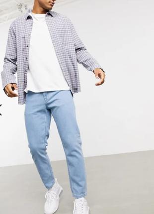 Светлые выбеленные классические джинсы asos design