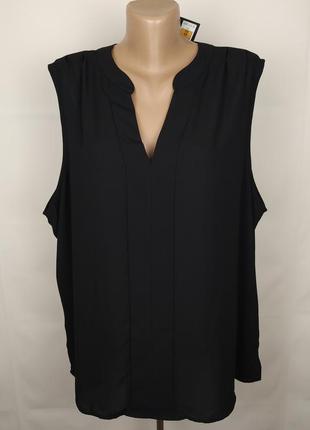 Блуза шикарная базовая новая большого размера marks&spencer uk 24/52/5xl