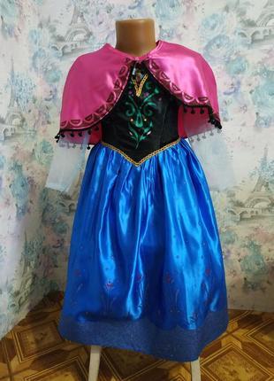 Платье анны холодное сердце disney 5-6 л карнавальный костюм